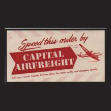 Collctable Vintage Airline luggage label Capital Airways  #837